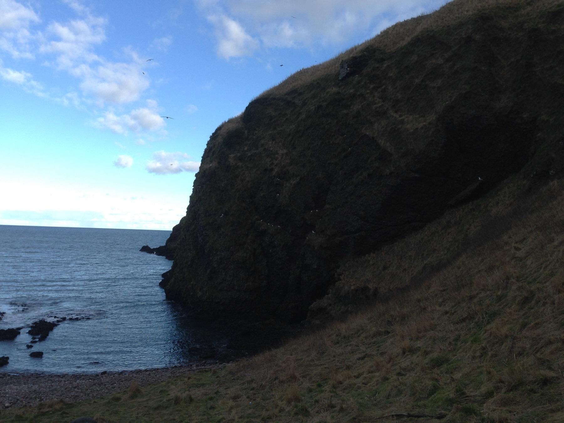 cliffs from below